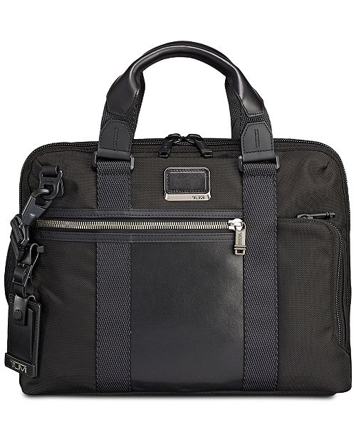 Tumi Men's Alpha Bravo Charleston Compact Briefcase