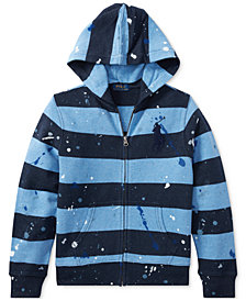 Ralph Lauren Striped Cotton Hoodie, Big Boys