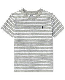 Ralph Lauren Striped V-Neck T-Shirt, Little Boys