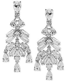 Arabella Swarovski Zirconia Chandelier Earrings in Sterling Silver
