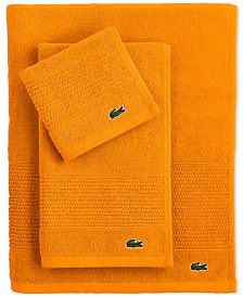 CLOSEOUT! Lacoste Legend Supima Cotton Bath Towel Collection