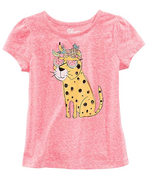 Graphic-Print T-Shirt, Little Girls, Created for Macy's