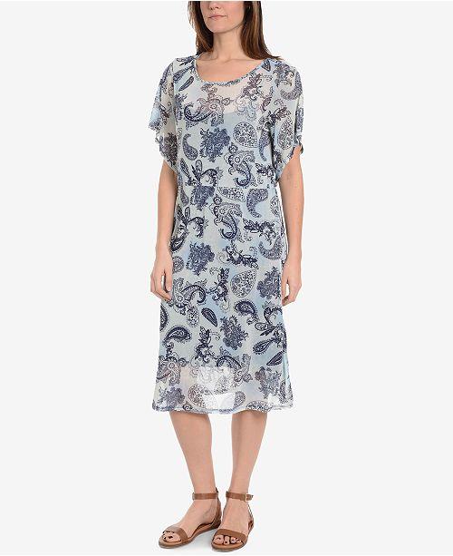 NY Collection Mesh Sheath Dress