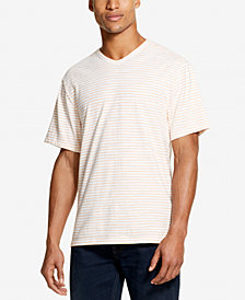 DKNY Men's Textured Stripe V-Neck T-Shirt, Created for Macy's