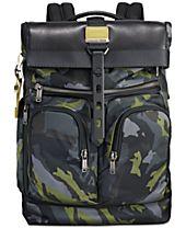 Tumi Men's Alpha Bravo London Camo-Print Roll-Top Backpack