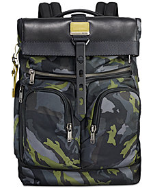 Tumi Men's Alpha Bravo London Camo-Print Roll-Top Backpack
