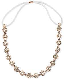 Jewel Badgley Mischka Rose Gold-Tone Pavé Orb Headband