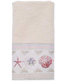 Avanti Coronado Cotton Graphic-Print Beaded Fingertip Towel