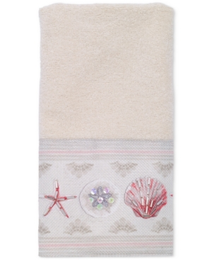 Avanti Coronado Cotton GraphicPrint Beaded Fingertip Towel Bedding