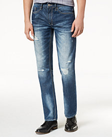 Buffalo David Bitton Men's Six Straight-Fit Destroyed Jeans
