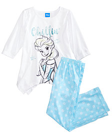 Disney's® Frozen 2-Pc. Elsa Pajama Set, Little Girls & Big Girls, Created for Macy's