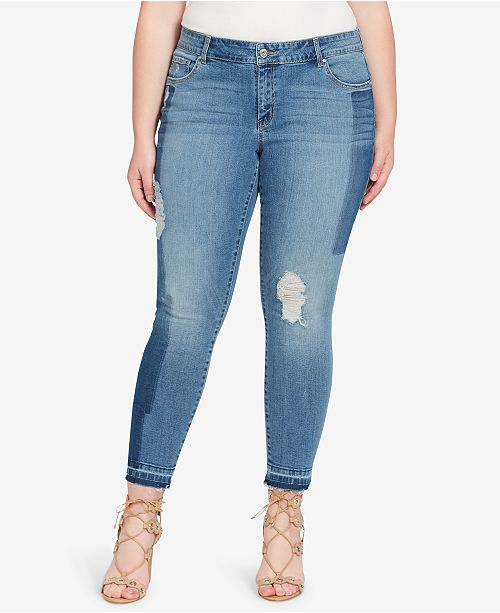5f37098c5bc Jessica Simpson Trendy Plus Size Ripped Skinny Jeans - Jeans - Plus ...