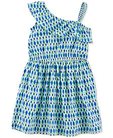 Carter's One-Shoulder Geo-Print Cotton Dress, Little & Big Girls