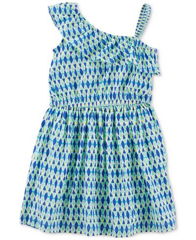 Carter's One-Shoulder Geo-Print Cotton Dress, Little & Big Girls