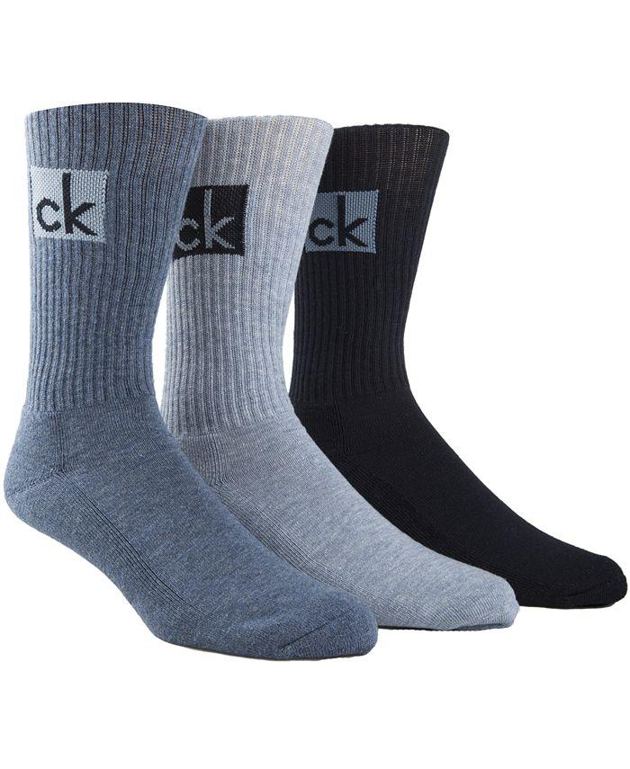 Calvin Klein - Men's 3-Pk. Logo Socks