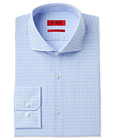 HUGO Men's Slim-Fit Blue Check Dress Shirt