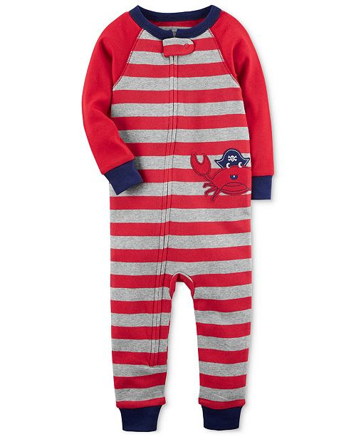 d084f0075 Carter s Crab Striped Cotton Pajamas