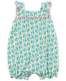 Carter's Tropical-Print Cotton Romper, Baby Girls