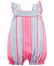 Carter's Striped Cotton Romper, Baby Girls