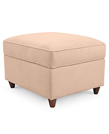 Lidia Fabric Ottoman - Custom Colors,  Created for Macy's