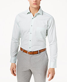 Alfani Men's Classic/Regular Fit X Diamond Print Dress Shirt, Created for Macy's