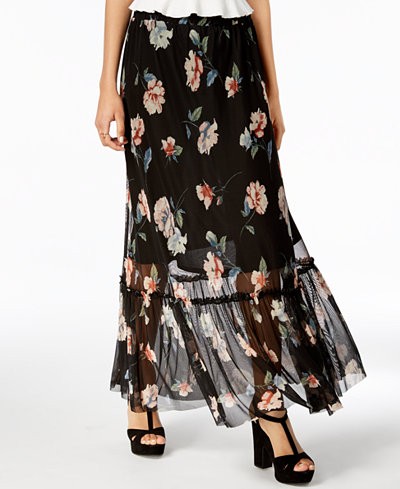 American Rag Juniors' Floral-Print Maxi Skirt, Created for Macy's