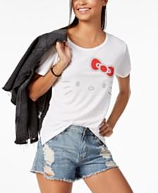 Love Tribe Juniors' Hello Kitty Graphic-Print T-Shirt