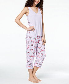 Alfani Printed-Panel Pajama Set, Created for Macy's