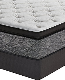 "MacyBed by Serta  Resort 13"" Plush Euro Pillow Top Mattress Set - Queen, Created for Macy's"