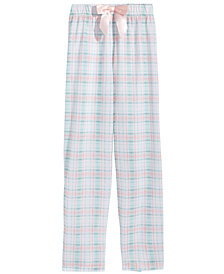 Max & Olivia Plaid Pajama Pants, Little Girls & Big Girls