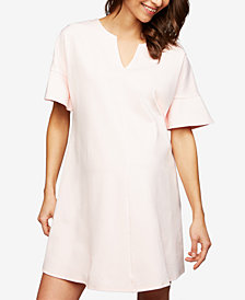 Isabella Oliver Maternity Split-Neck Shift Dress