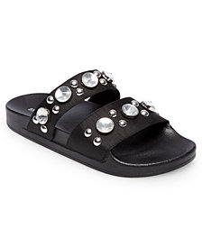 Steve Madden Women's Shinin Embellished Slide Sandals