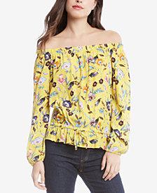 Karen Kane Floral-Print Off-The-Shoulder Blouse