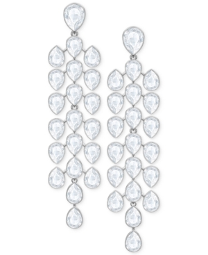 Swarovski Silver-Tone Crystal Chandelier Earrings