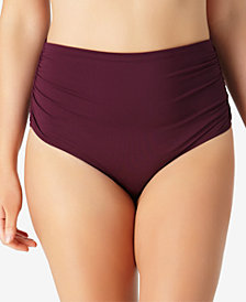 Anne Cole Plus Size High-Waist Bikini Bottoms