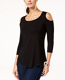 Petite Cold-Shoulder Top, Created for Macy's