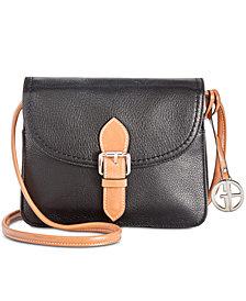 Giani Bernini Leather Conflap Crossbody, Created for Macy's