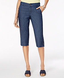 Style & Co Snap-Hem Capri Pants, Created for Macy's