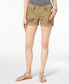 Lucky Brand Ripped Cotton Denim Boyfriend Shorts