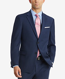 Men's Modern-Fit TH Flex Performance Plaid Suit Separates