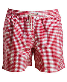 "Barbour Men's Tailored-Fit Gingham 5-1/2"" Swim Trunks"