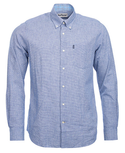 Barbour Men's Austin Tailored-Fit Micro-Houndstooth Pocket Shirt