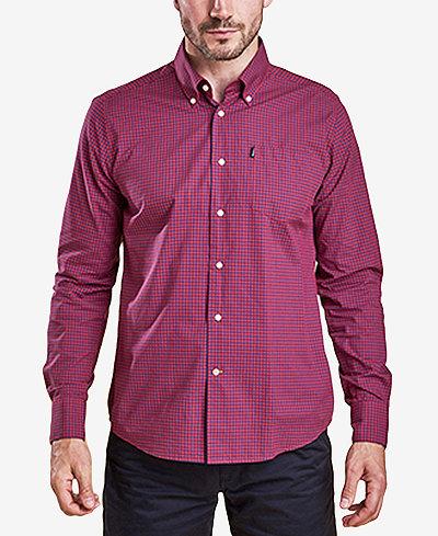 Barbour Men's Leonard Tailored-Fit Gingham Check Shirt