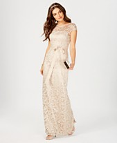 757b1cb21f2 Adrianna Papell Cap-Sleeve Illusion Lace Gown