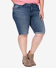 Lucky Brand Trendy Plus Size Denim Bermuda Shorts