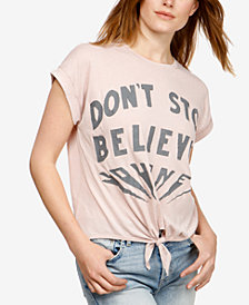 Lucky Brand Tie-Front Graphic T-Shirt