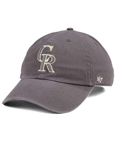 '47 Brand Colorado Rockies Dark Gray CLEAN UP Cap