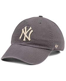 '47 Brand New York Yankees Dark Gray CLEAN UP Cap