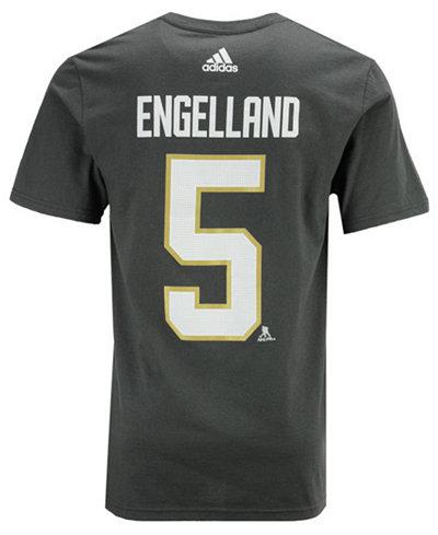 adidas Men's Deryk Engelland Vegas Golden Knights Silver Player T-Shirt