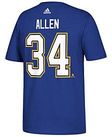 Men's Jake Allen St. Louis Blues Silver Player T-Shirt